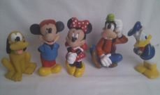 Adorable Big Mickey Mouse, Minnie Mouse & Friends Collectable Figures in Case